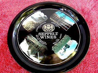 VINTAGE  SEPPELT WINES  ADVERTISING  TIN SERVING  TRAY  MADE IN JAPAN   28cm.