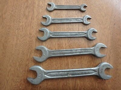Open End Wrench, Set of 5, Drop Forged Select Steel, U.S.A.