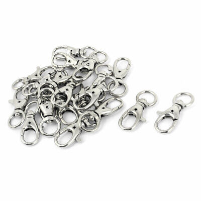 20 Pcs Silver Tone Keychain Lobster Clasps Hooks Connectors Findings 10mm