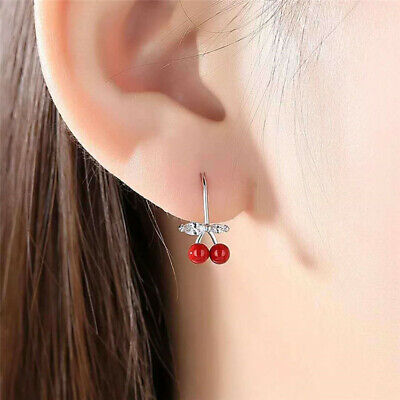 Girls lovely Zircon Earrings Silver Hook Delicate Wedding Party Women Gift