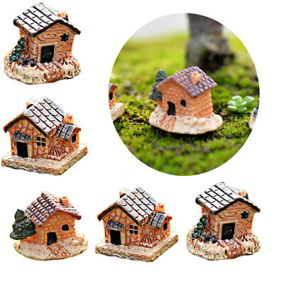 Ornament Moss Cottages Micro Landscape Figurines & Miniatures Mini Small House