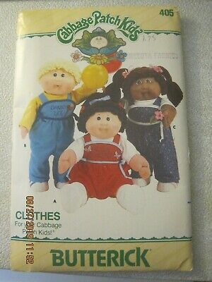 NEW Cabbage Patch Kids Clothes sewing patterns by Butterick. Lot of 4 1986-1987
