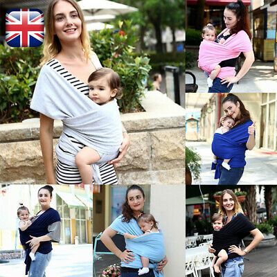 Baby Sling Stretchy Wrap Carrier Premium Breastfeeding Birth To 3Yrs Soft Cotton