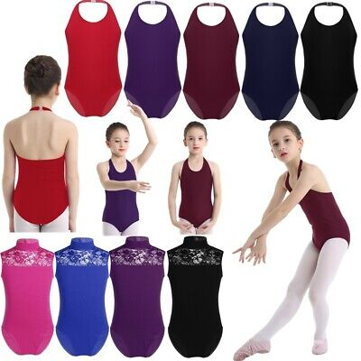 Girls Ballet Dance Leotards Children Gymnastics Bodysuit Ballerina Show Costumes