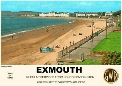 1900/'s LSW Railway Exmouth Travel Poster A3 A2 Print