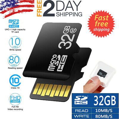 32GB TF Card Class10 80Mb/s Flash Memory Card With Adapter For Camera Cell Phone