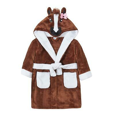Childrens / Girls Novelty Horse / Pony Fleece Dressing Gown with Tail ~ 2-13 Yrs