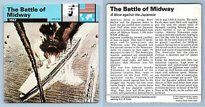 1942 War At Sea WW2 Edito-Service SA 1977 Card The Battle Of Midway