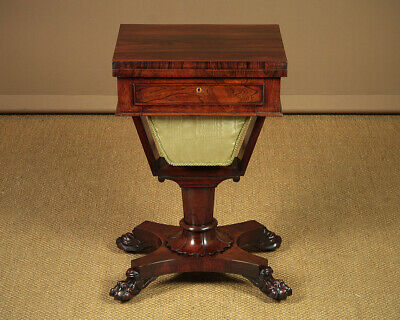 Antique Rosewood Work Box & Writing Table c.1830.