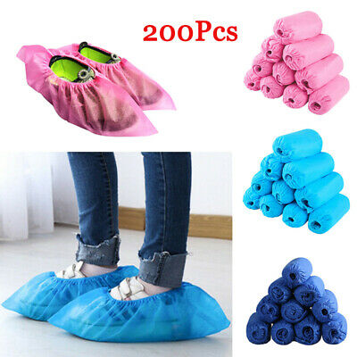 200PC Non-Woven Disposable Shoe Cover Floor Carpet Protector Overshoes Anti Slip