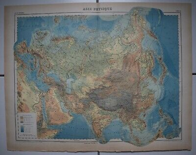 ▬► Carte Map - 🌍 ASIE PHYSIQUE - Asia - 1920