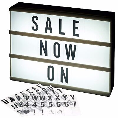 Cinema A4 LED Light Up Message Board Word Display Sign Writing Letter Symbol Box