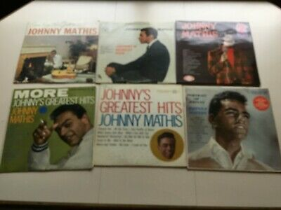 Johnny Mathis Vinyl Record Lot of 6  - Greatest Hits Portrait Faithfully - Album
