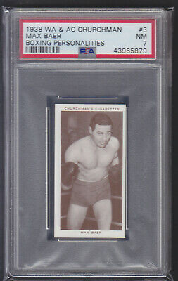 Churchman - Boxing Personalities 1938 - Max Baer - PSA 7 NM