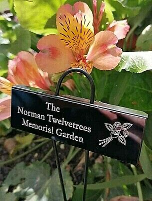 Engraved Memorial Stake Cremation with Personalised Plaque Grave Tree Marker