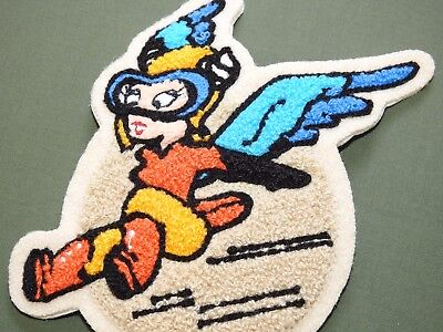 """US Army AAF WW2 EASTMAN WASP WOMEN'S FERRY PILOT CHENILLE """"FIFINELLA"""" PATCH MINT"""