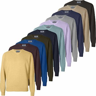 Mens Marks & Spencer Cotton V Neck Jumper M&S Knitted Sweater Pullover Top New