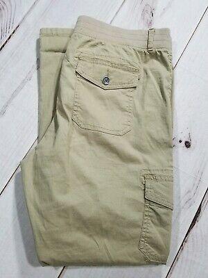 Sonoma Women's Pants Roll-up Crop Ankle Khaki Stretch Size 10 inseam 27""