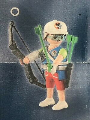 Playmobil Series 14 Collectible Archer Shooter Figure New 9443 Blue Bag