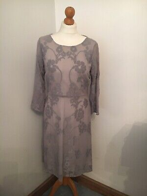 NEXT Worn Once Beautiful Silver Grey Ladies A Line L/Sleeve Dress