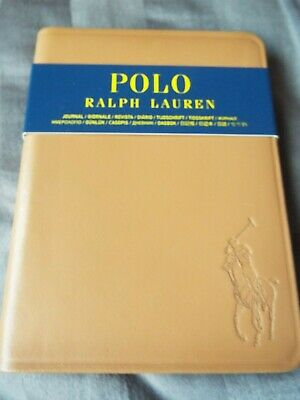 Ralph Lauren Polo Saddle Brown Leather Covered Notebook Journal New lined Paper