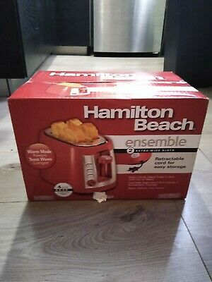 22623 Red Hamilton Beach Cool Wall 2-Slice Toaster Small ...