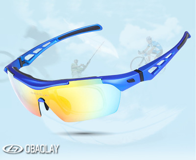 OBAOLAY Polarized Cycling Sunglasses Goggles Eyewear Sport Glasses 5 Lenses