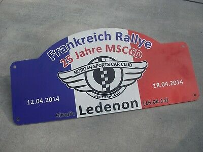 Schild MSCCD MORGAN SPORTS CAR CLUB - FRANKREICH RALLYE 2014 - CIRCUIT LEDENON