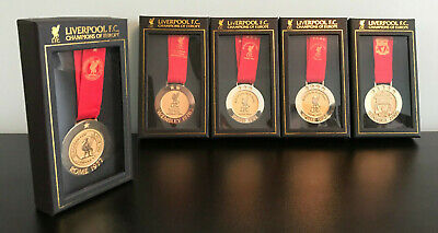 Liverpool Fc - Lfc Champions League Medal Collection - 77, 78, 81, 84, 05