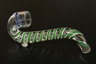 "4"" HONEYCOMB SHERLOCK GREEN One Hitter Tobacco Smoking Glass Pipe One Hitter"