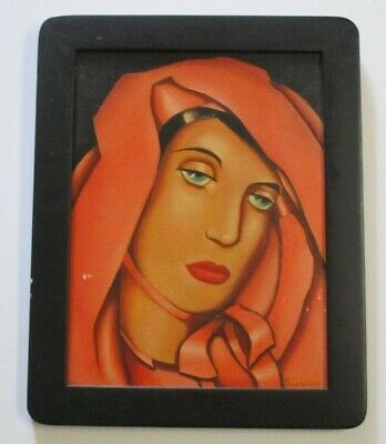 Yvonne Pene Du Bois Painting New York Modernist Wpa Era Antique Madonna Portrait