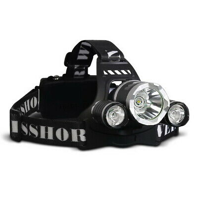 WEISSHORN LED Headlamp Rechargeable Head Torch Light 90000LM CREE XML T6 R5