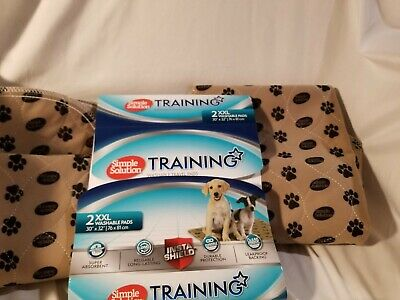 Simple Solution Large Washable Training & Travel Dog and Puppy Pad 2 count