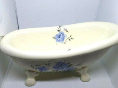 Vintage Athena Calif. Pottery- Claw Foot Bathtub. Ceramic Soap Dish