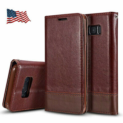 Samsung Galaxy S6/S7/S9 S8 Plus Leather Wallet Cards Slot Flip Case Stand Cover