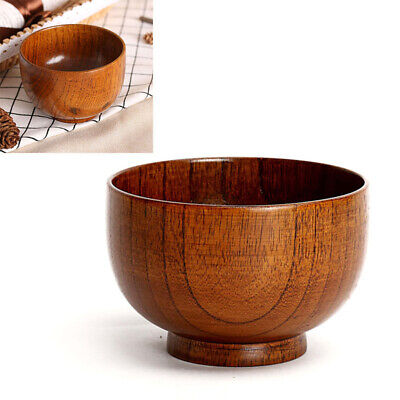 Hand Grinding Wooden Bowl Creative Soup Rice Tableware Kitchen Dish Useful