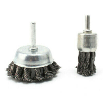 Corrosion Wire Brushes Coating Removal Grinding Tool Rust 2pcs 75mm/25mm Steel