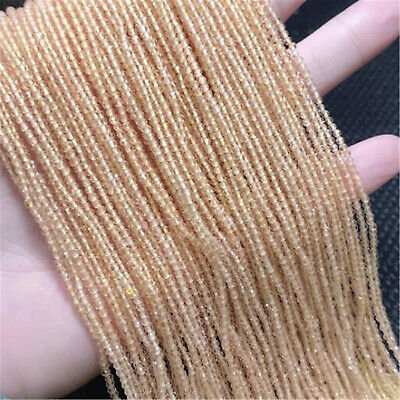 2mm beige Faceted Spinel Loose Beads Making Jewelry 15 inches Gemstone Hole