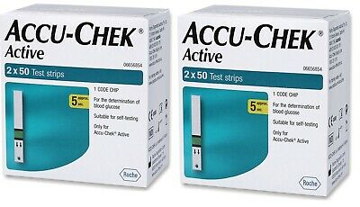 ACCU CHEK ACTIVE 200 TEST STRIPS NEW STOCK EXP June 2020