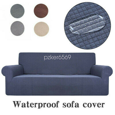Sofa Fleece Slipcover Stretch Waterproof Cover Settee Protector for 1-4 Seater