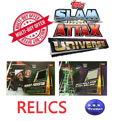 WWE Slam Attax Universe RARE RELICS RING MAT TABLE LADDER TURNBUCKLE You choose!