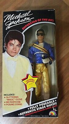 MICHAEL JACKSON 1984 GRAMMY AWARDS DOLL with Microphone and Sunglasses