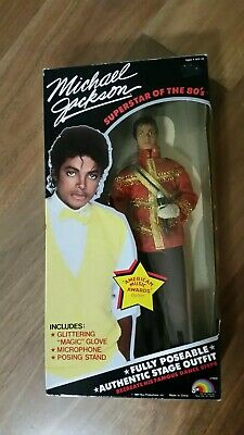 MICHAEL JACKSON 1984 American Music AWARDS DOLL with Microphone