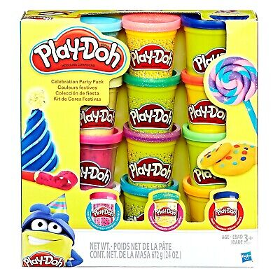Play-Doh Celebration Party 12 Pack Confetti Sparkle & Classic Modeling Compound