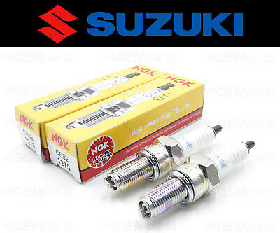 Set of (2) NGK CR8E Spark Plug Suzuki Scooter (See Fitment Chart) #09482-00456