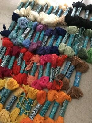 Vintage Anchor Mixed Tapestry Embroidery Craft Yarn Wool Skeins Lot AS IS