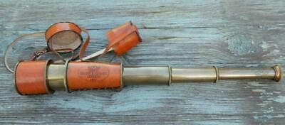 Antique Telescope Navy kelvin & hughes london 1917 Maritime With Leather Cover