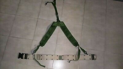 US Military LC-1 LC-2 ALICE SUSPENDERS OD Green & TAN BELT LOAD BEARING