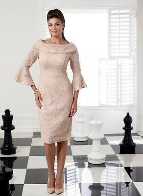 NEW SEASON Veromia Mother Of The Bride/groom Outfit Size 8 Gold