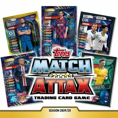 Topps Match Attax UEFA Champions League 19/20 Trading Card Choose Card NEW